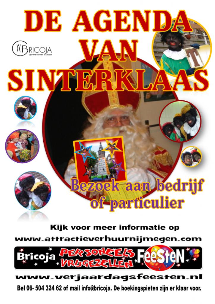 De agenda van Sinterklaas. verhuur sint en pieten.