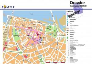 moorddossier plattegrond centrum Nijmegen